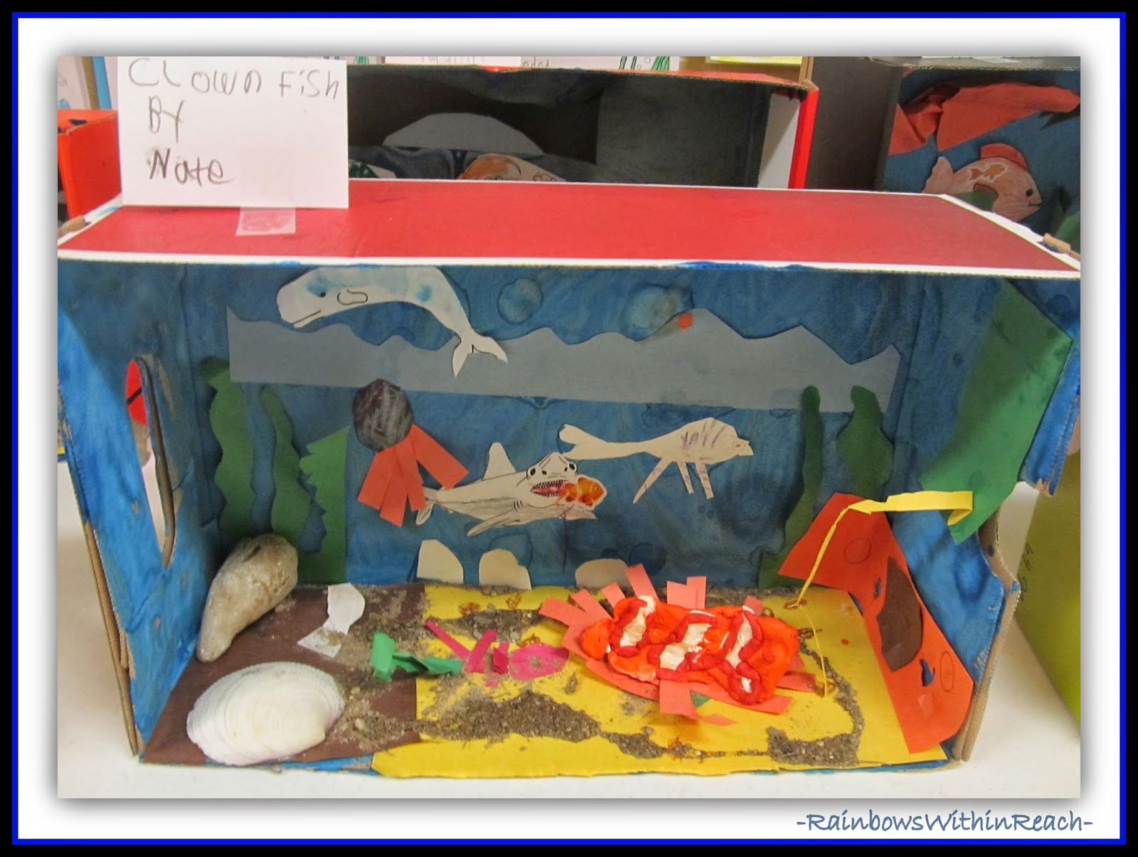 Ocean Theme Dioramas from Ocean RoundUP at RainbowsWithinReach