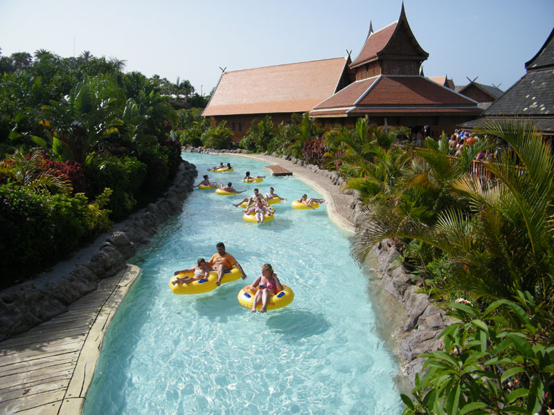 Paseo en flotador en Siam Park