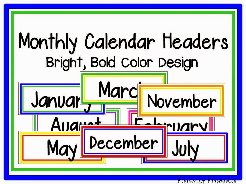 Calendar Monthly Headers : How to make and implement a linear calendar pocket of