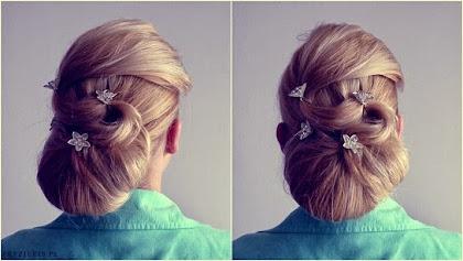fryzura ślubna 70