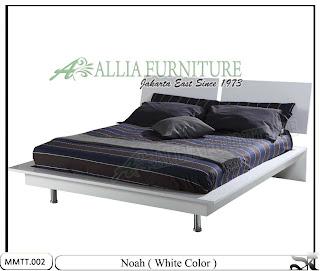 Tempat Tidur Minimalis Modern Noah 160 X 200 Putih