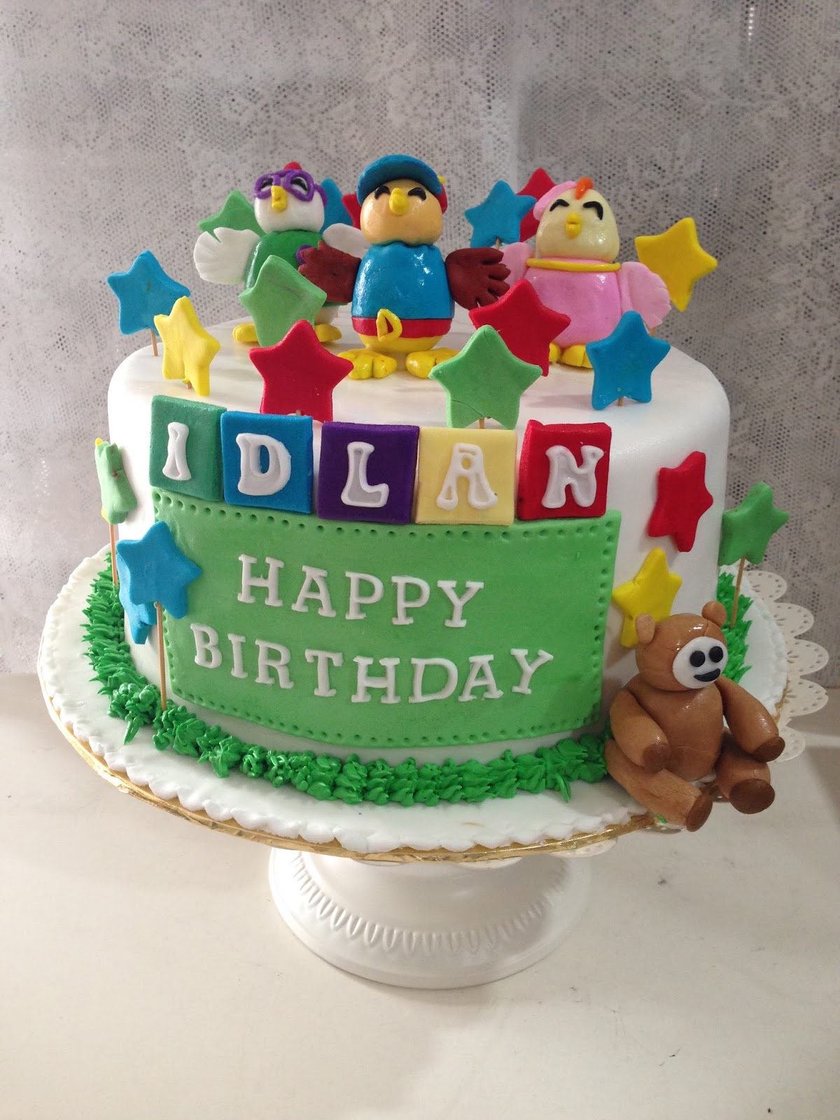 Images Of Birthday Cake For Didi : ninie cakes house: Didi and Friends Fondant Cake