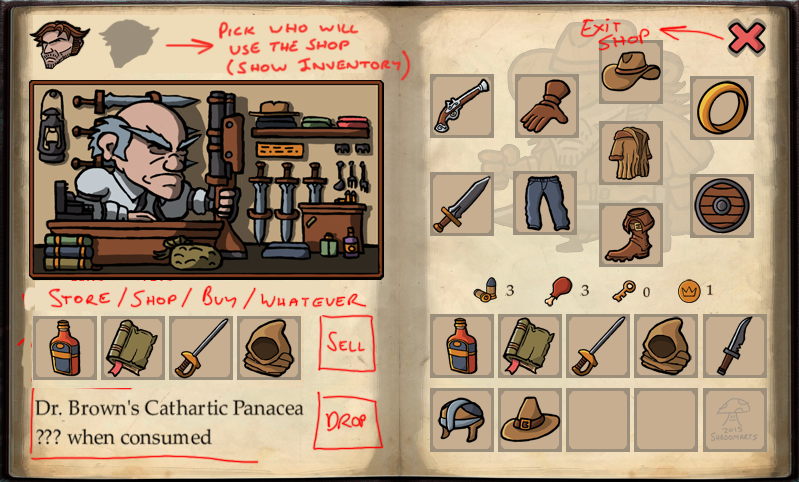 gravebound shop concept
