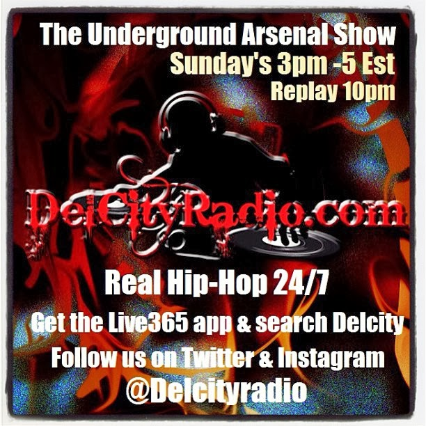 http://www.mixcloud.com/DelCityRadio/the-underground-arsenal-show-11-3-13/
