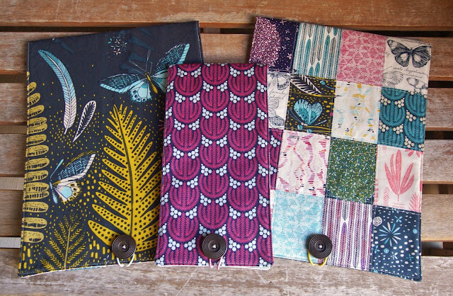 Biology Travel Portfolio Set by Heidi Staples for Modern Patchwork Magazine