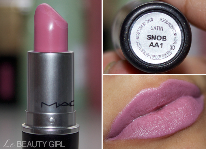 My MAC Lipstick collection (Snob)