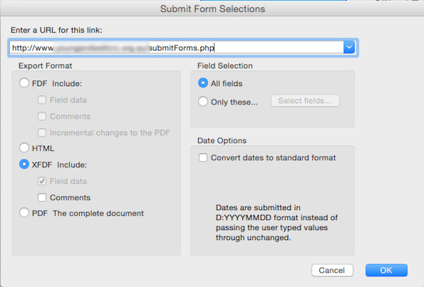 how to change a property of fillable field in acrobat