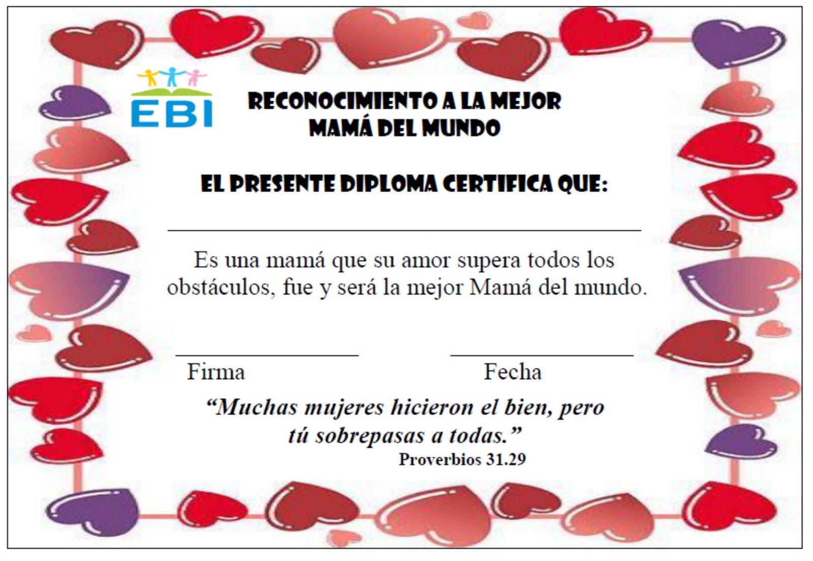 Fantástico Certificado De Páginas Para Colorear De Mamá Inspiración ...