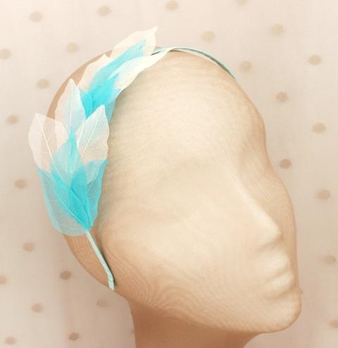 Colección Hojas - Diadema Azul