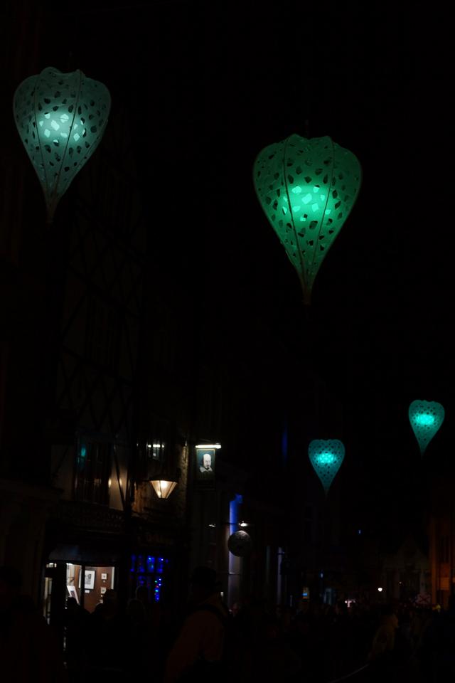 Hello Freckles Durham Lumiere Coloured Lanterns