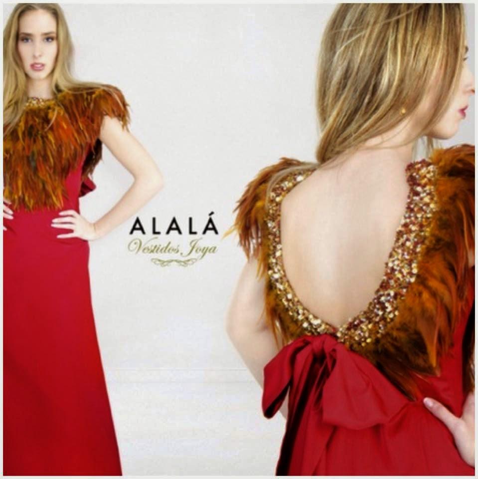 Uno de los vestidos joya de la firma de moda española Alalá