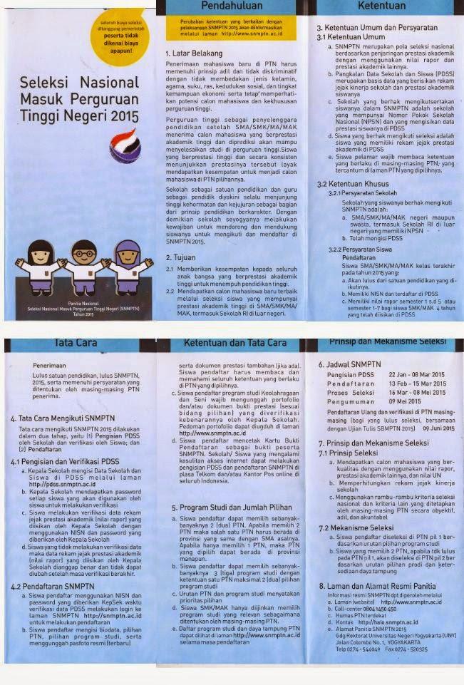 brosur SNMPTN 2015