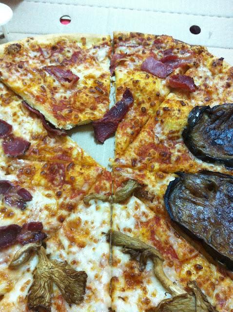 פיצה חצילים פטריות