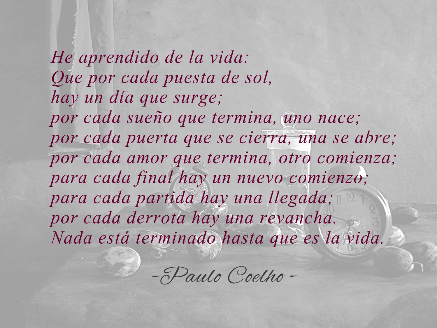 Frase de Paulo Coelho sobre la esperanza Enviar
