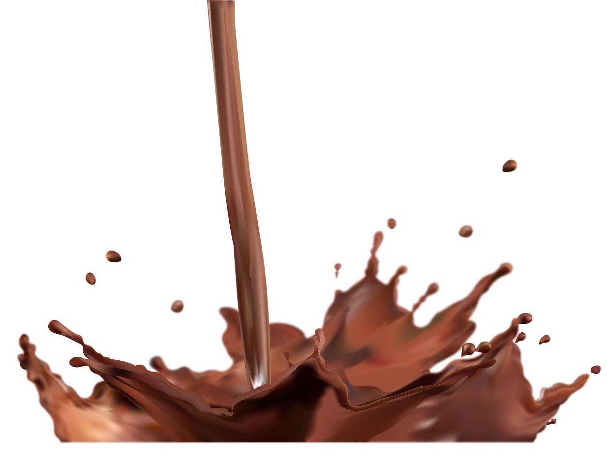 飛び散るチョコレートの飛沫 vector splash of chocolate イラスト素材