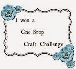 I won One Stop Crafts Challenge