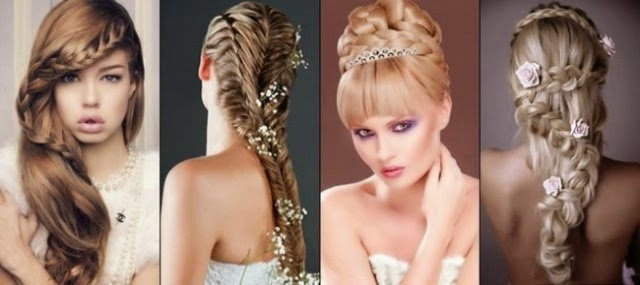 women ladies female hair style bridal hair styles wedding hairstyles ...