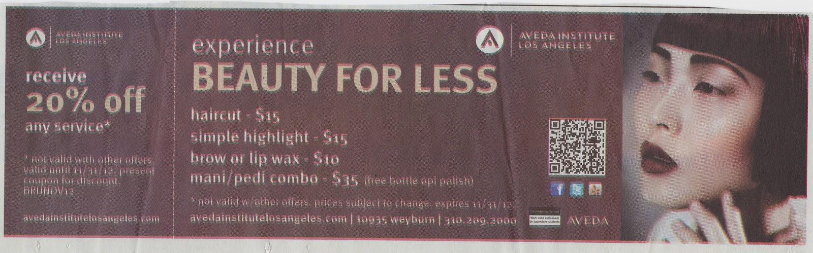 Aveda Haircut Prices