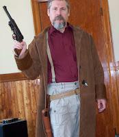 AbbyShot Customer in his Malcolm Reynolds Browncoat