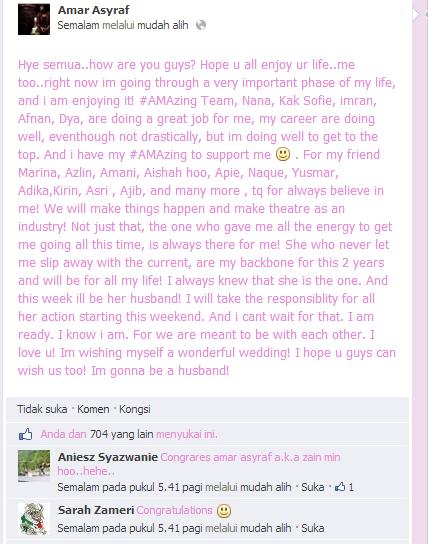 amar asyraf kahwin,amar asyraf facebook