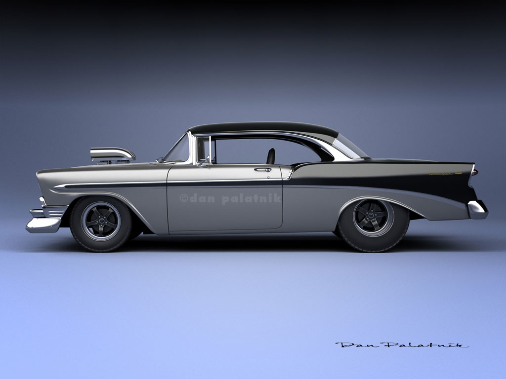 A garagem digital de dan palatnik the digital garage project 1956 chevrolet bel air sport coupe
