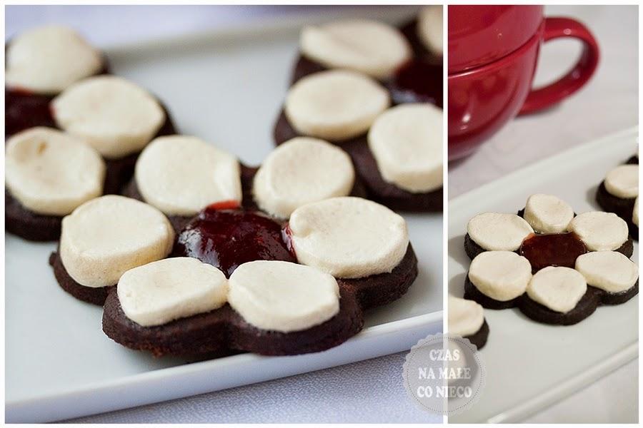kakaowe ciasteczka stokrotki