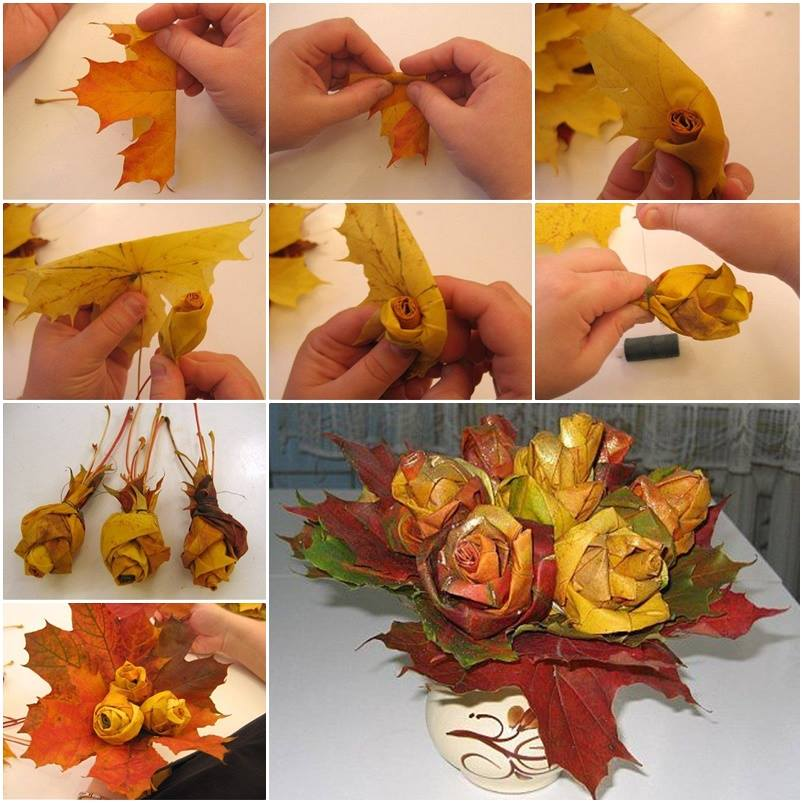 Осенние композиции пошагово