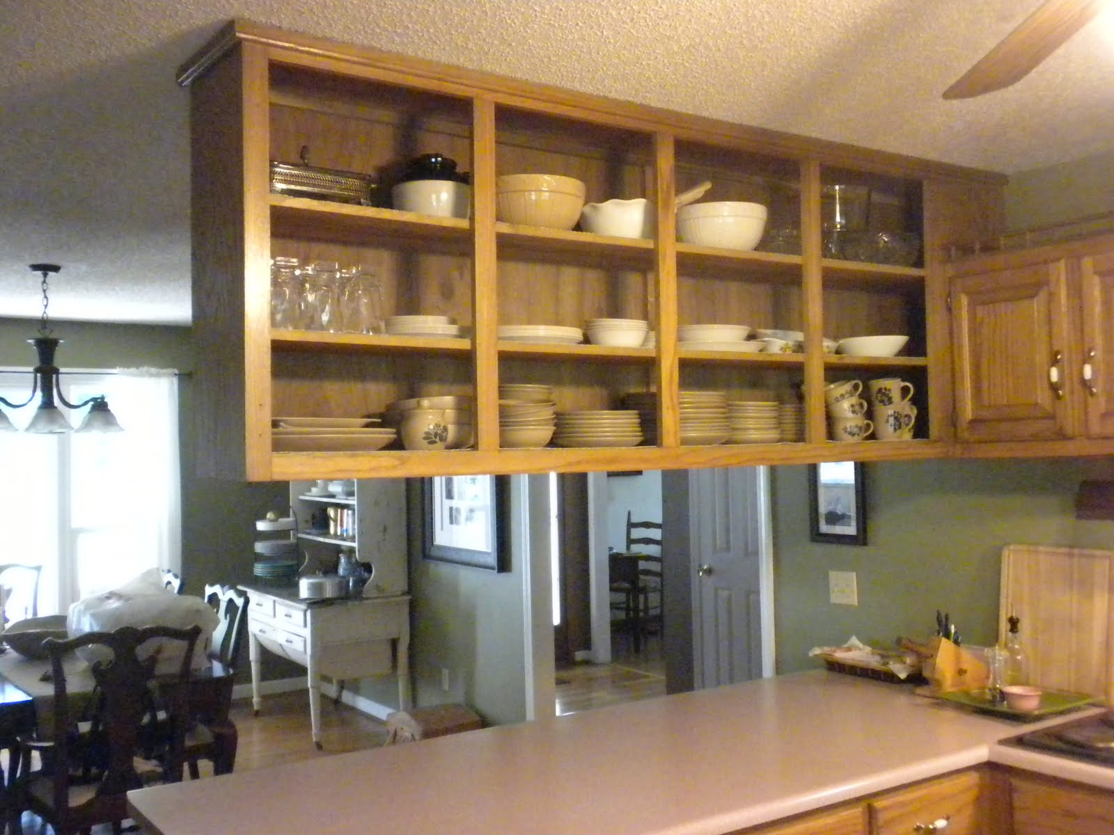 A Meek Perspective BeforeAfter Upper Kitchen Cabinet