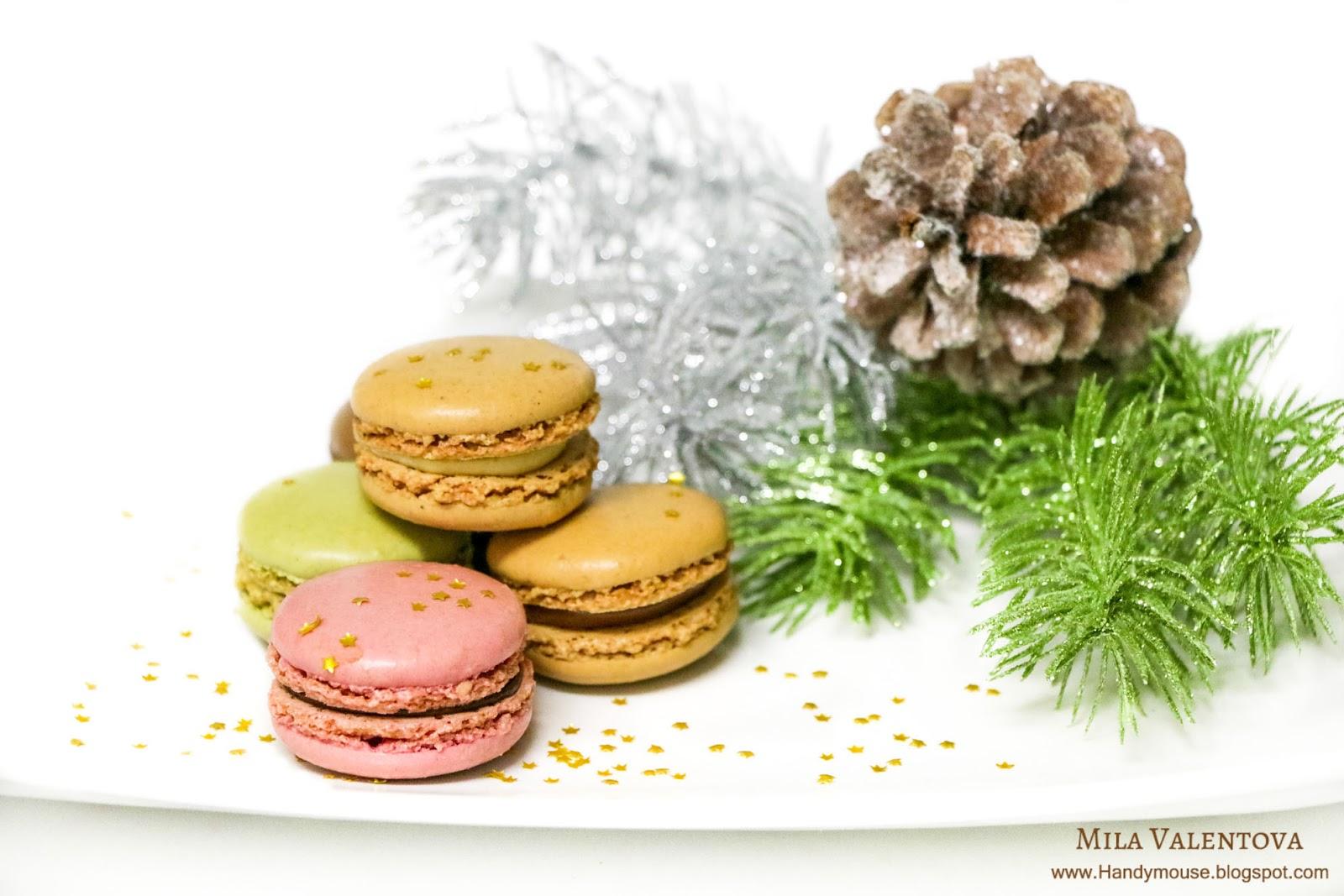 Новогодние сладости - макаронс. Мила Валентова