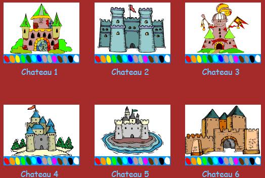 Colorea los Castillos