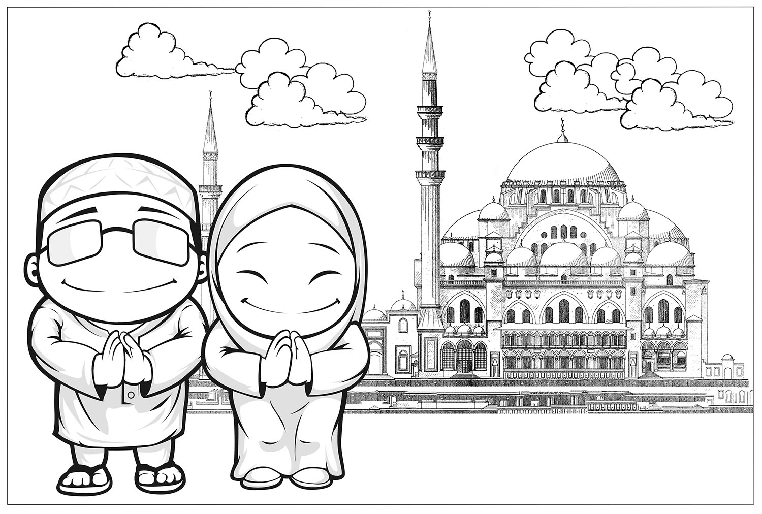 Colouring Pages For Hari Raya Life In My Own Backyard Twenty Ninth Day Of Ramadan