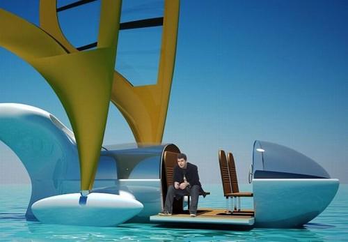 Sailing aircraft-boat and plane