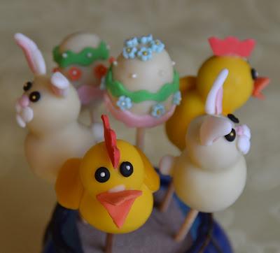 Cake pops påskägg, kyckling, påskhare