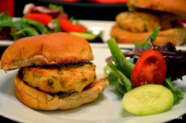 Oven Baked Chicken Burger