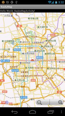 編寫簡單的百度地图(Baidu Map)應用程序