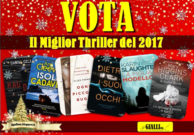VOTA il tuo MIGLIOR THRILLER del 2017