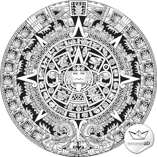 Calendario Azteca En Vector  Vector Aztec Calendar