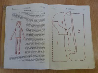 czasopismo Płomyk, wykrój na lalkę Płomyczankę