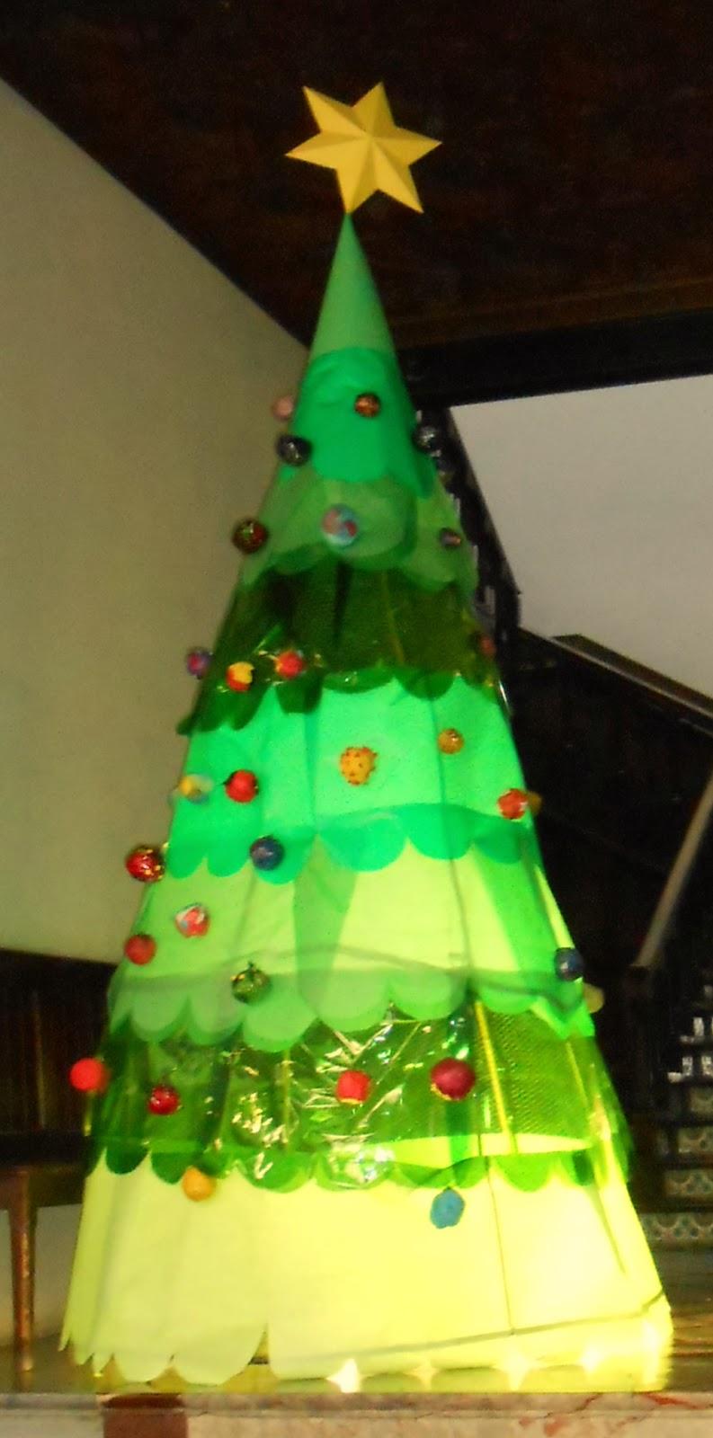 Re creo de colores rbol de navidad de papel - Arboles de navidad de papel ...