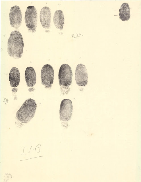 Fingerprints of S S Buckman