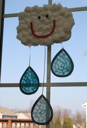 http://www.allkidsnetwork.com/crafts/spring/rain-cloud-craft.asp
