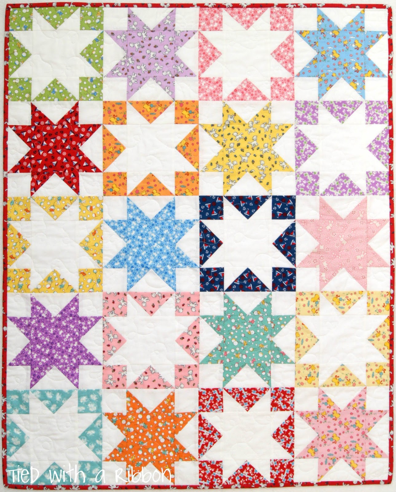 Tied With A Ribbon Shadow Stars Quilt Play Mat Tutorial