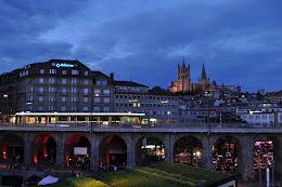 Lausanne de noche