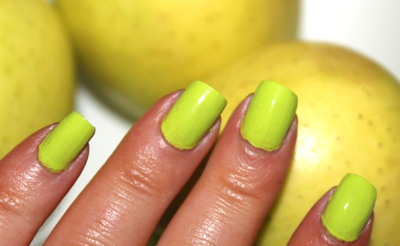 Nubar Sour Apple Nail Lacquer Review The Sunday Girl