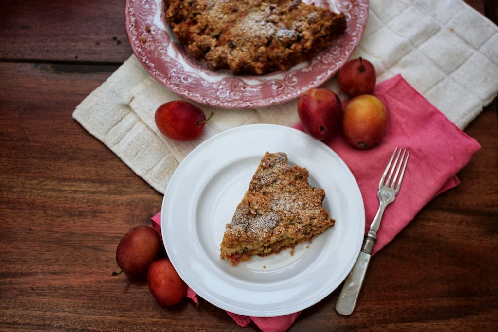Plum and hazelnut crumble tart — Nutmegs, seven