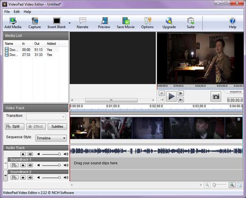 Software Video Editing Gratis dan Terbaik Untuk Komputer - VideoPad 1