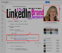 Configuración del perfil de Google+ con enlaces hasta el blog