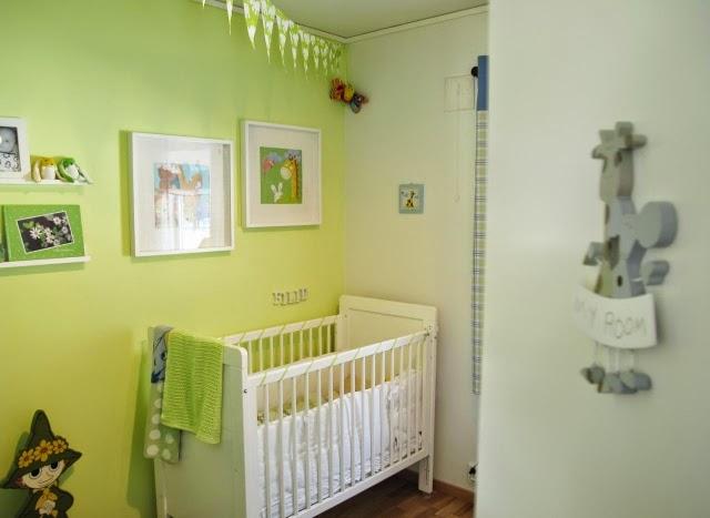 Habitaciones de beb en color verde dormitorios colores - Colores habitacion bebe ...