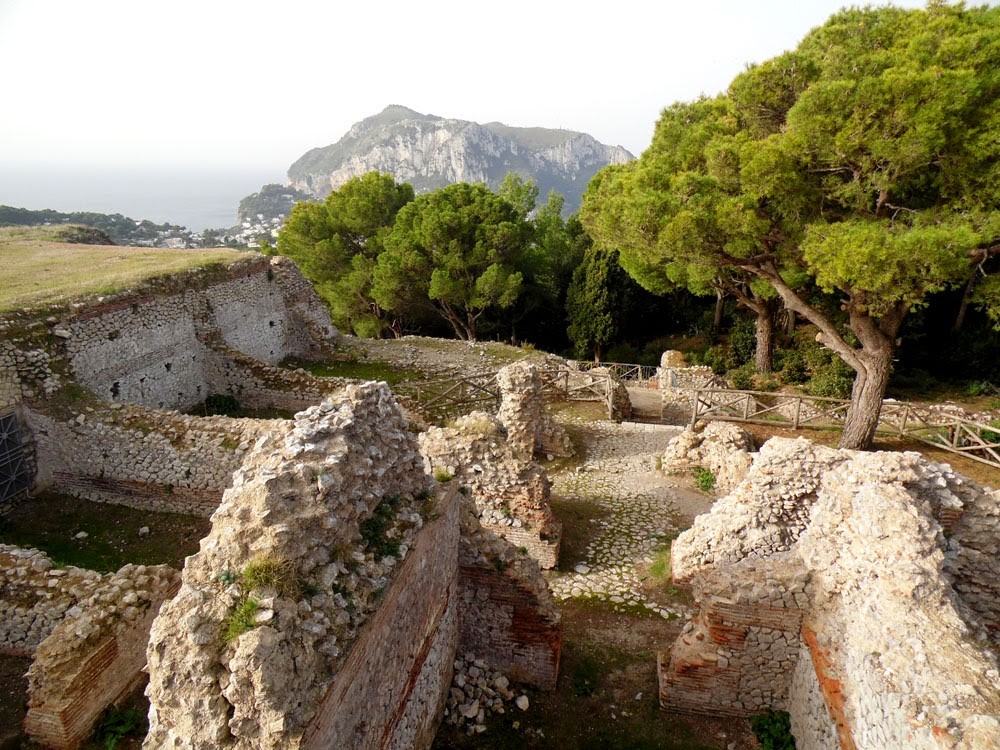 photos of Tiberius' Villa Jovis on the Island of Capri  by Andie Gilmour