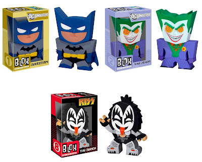 "Blox Vinyl Figures by Funko - Batman, The Joker & Gene Simmons ""The Demon"""